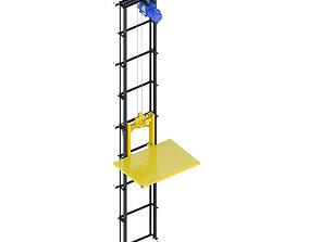Industrial lift - SU-77 3D model