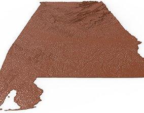 Alabama Relief Map 3D printable model