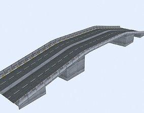 3D asset low-poly Bridge Road