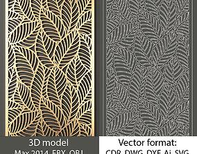decorative panel 119 3d model and vector format