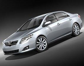 3D model Toyota Corolla Sedan 2009