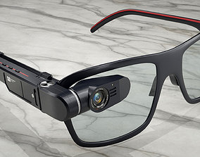 Smart glasses 3D model hud