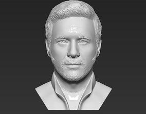 Star-Lord Chris Pratt bust 3D printing ready stl obj