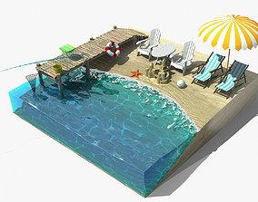 3D model Beach Fragment