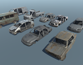 3D model Post Apocalyptic Car Pack - 9 in 1