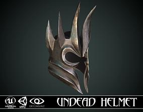 Undead Helm 3D asset