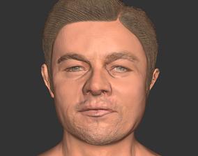 low-poly Leonardo Dicaprio actor movie head 3D print