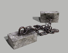 3D model Concrete Debris - Chain Weight - PBR