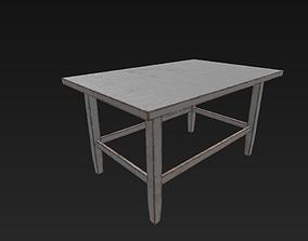 3D asset VR / AR ready Old Table
