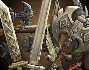 3D asset RPG Weapons Pack