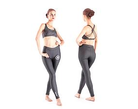Female dancer 17 3D asset