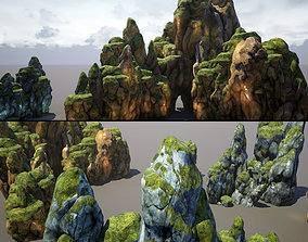 realtime Mountains and Rocks pack - game models