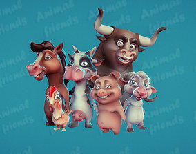 Farm Animals Friends 3D model