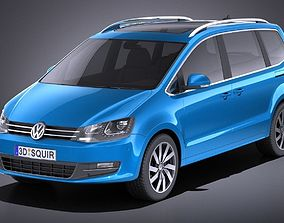 3D model Volkswagen Sharan 2016 VRAY