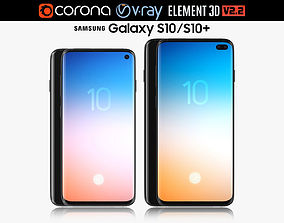 3D Samsung GALAXY S10 and S10 PLUS