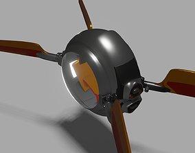 3D asset game-ready oblivion bubble spaceship