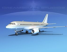 3D model Airbus A319 Corporate 1