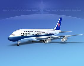 Airbus A380-800 China Southern 3D