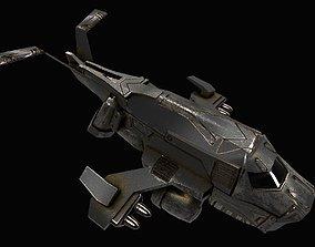 space jet 3D asset low-poly