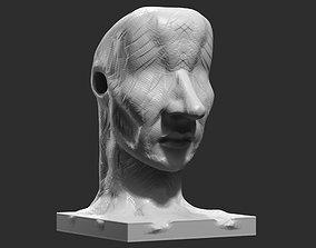 human head modern sculpture 3d print model 90 abstraction