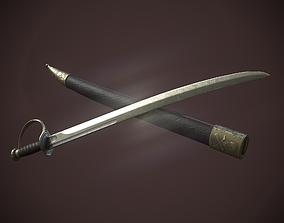 Pirates Cutlass Sword And Sheath 3D model realtime