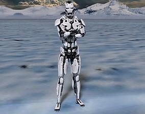 character sci-fi robot 3D model