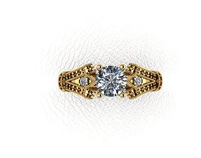wedding diamant 3D printable model Ring