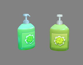 3D asset Cartoon hand sanitizer