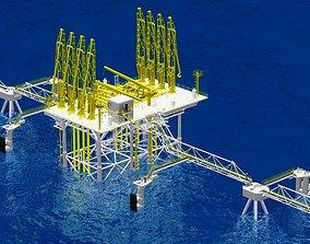 3D Offshore oil tanker load dock