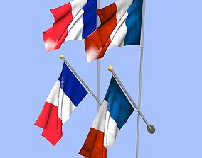 3D France Flag banner