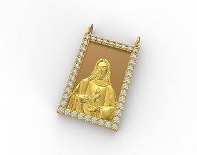 3D model Escapulario Jesus Cristo e Maria - Scapular Jesus