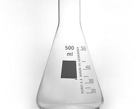 VR / AR ready Erlenmeyer Chemistry Flask I PBR Model 3D