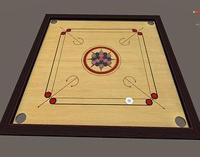 3D asset carrom board