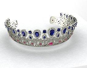 Tiara Diadem crown 3D print model