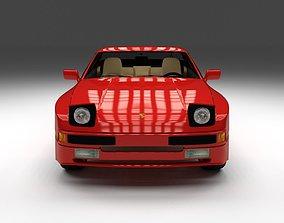 3D model Porsche 944 with interior