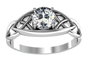 3D printable model Ring brilliant set precious
