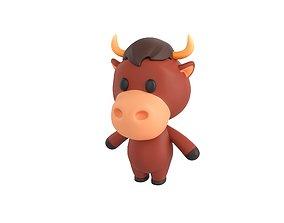 3D model Character043 Bull