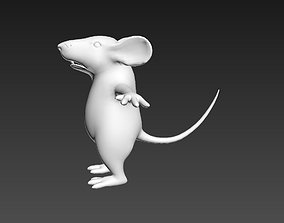 3D asset Mouse Character T-pose