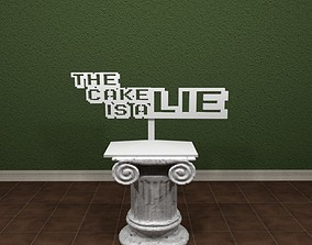 The Cake Is A Lie Sign 3D printable model