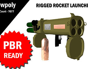 3D Rocket Launcher RIgged rigged