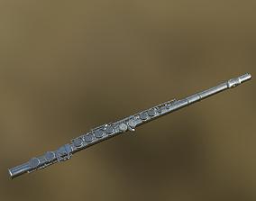 Flute 01 PBR 3D asset