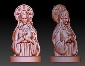 Virgin Mary Half body 3D print model