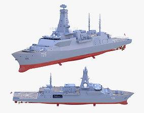 3D model Type 26 Frigate
