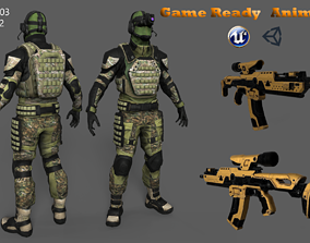 3D asset Tactical Soldier Full Animation
