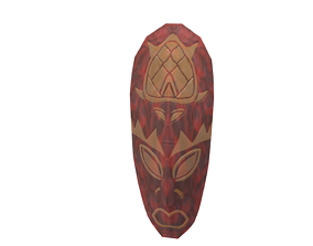 african-mask-turtle 3D asset