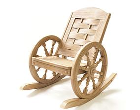 Rocking chair hand made 3D