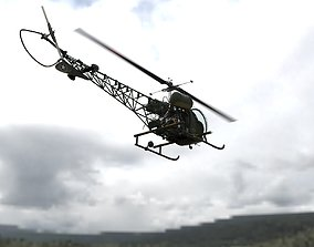 The Bubble Helicopter - Bell 47G - Detailed Model