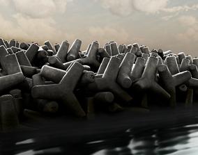 Tetrapod set 3D model