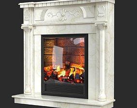 Electric fireplace Dacota Corner 3D model