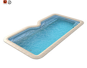 3d model of a composite pool Avignon